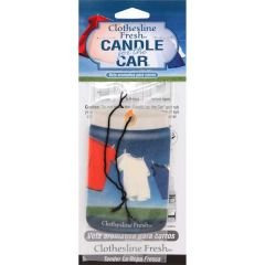 Candle for the Car Air Freshener-Clothesline Fresh