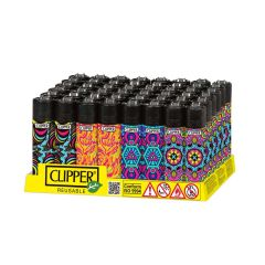Clipper Large Lighter - Display/48 - Psychedelic 3