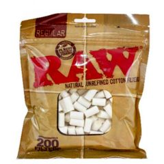 Raw Natural Unrefined Cotton Filter Tips